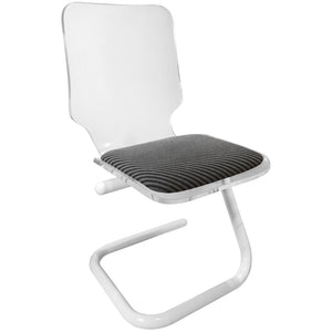LUCITE AND POWDER COATED CHROME Z BASE DESK CHAIR - Flair Home Collection