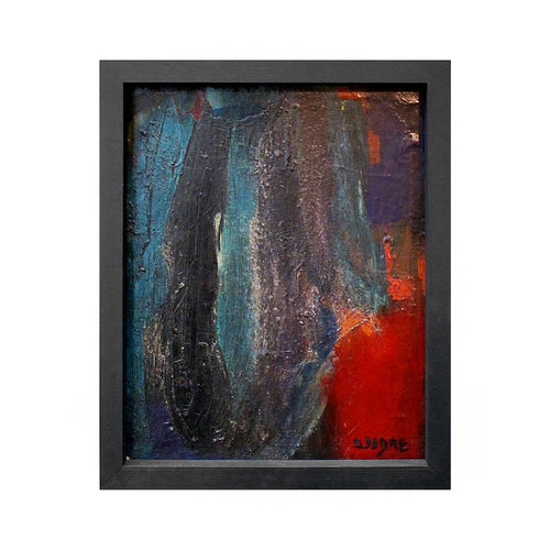 MIDCENTURY FRENCH ABSTRACT OIL PAINTING ATTRIBUTED TO OLIVIER DEBRÉ - Flair Home Collection