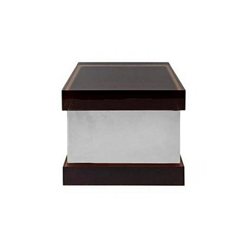 ANTARTIDE BOX IN NICKEL AND FUMÉ LUCITE - Flair Home Collection