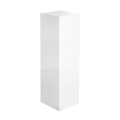 TALL WHITE LACQUERED COLUMN - Flair Home Collection