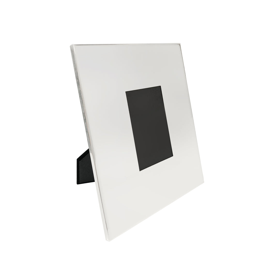 POLISHED NICKEL PLAIN WIDE PHOTO FRAME - Flair Home Collection