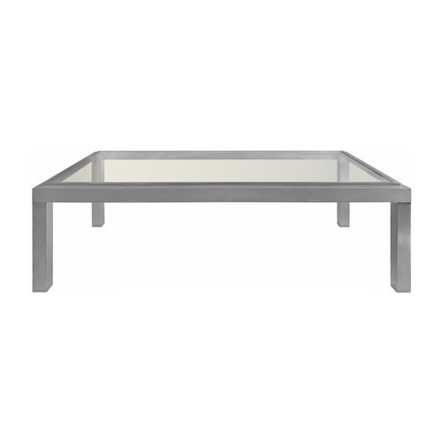 GUY LEFEVRE FOR JANSEN NICKEL AND GLASS COFFEE TABLE - Flair Home Collection