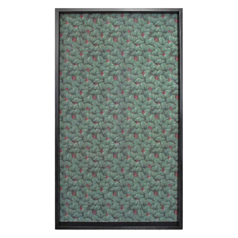 FRAMED 19TH CENTURY LEAF PATTERNED WALLPAPER PANEL - Flair Home Collection