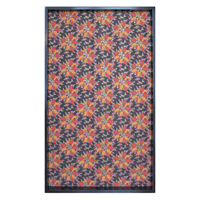FRAMED 19TH CENTURY FLORAL PATTERNED WALLPAPER PANEL - Flair Home Collection