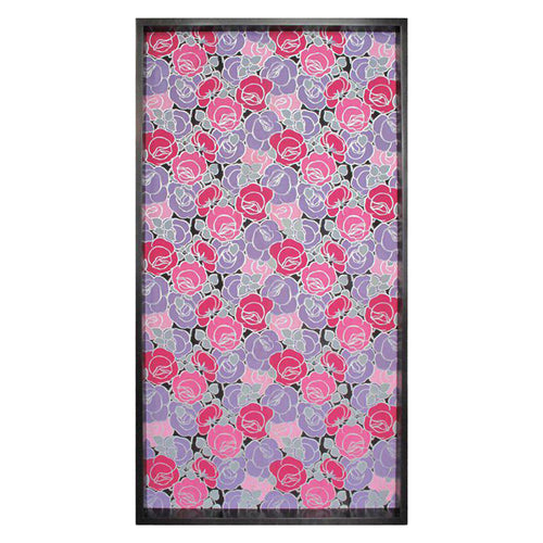FRAMED 19TH CENTURY ROSE PATTERNED WALLPAPER PANEL - Flair Home Collection