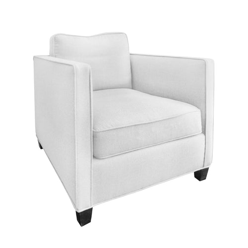 CUSTOM ROMA CLUB CHAIR - COM - Flair Home Collection