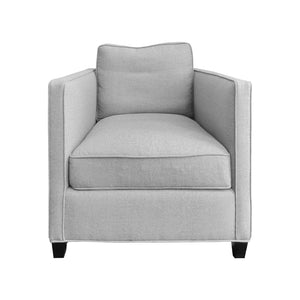 ROMA CLUB CHAIR IN GREY FLANNEL - Flair Home Collection