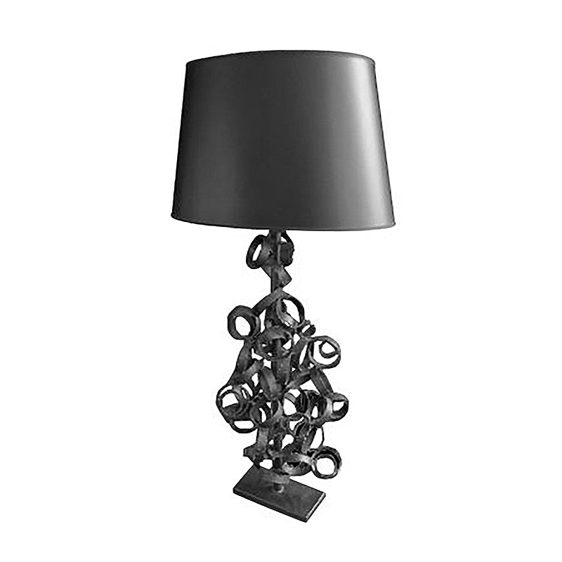 BLACK WELDED STEEL RING TABLE LAMP BY HARRY BALMER - Flair Home Collection