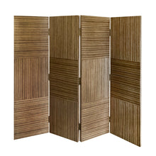 Load image into Gallery viewer, HANDMADE PATCHWORK ZEBRA WOOD SCREEN - Flair Home Collection