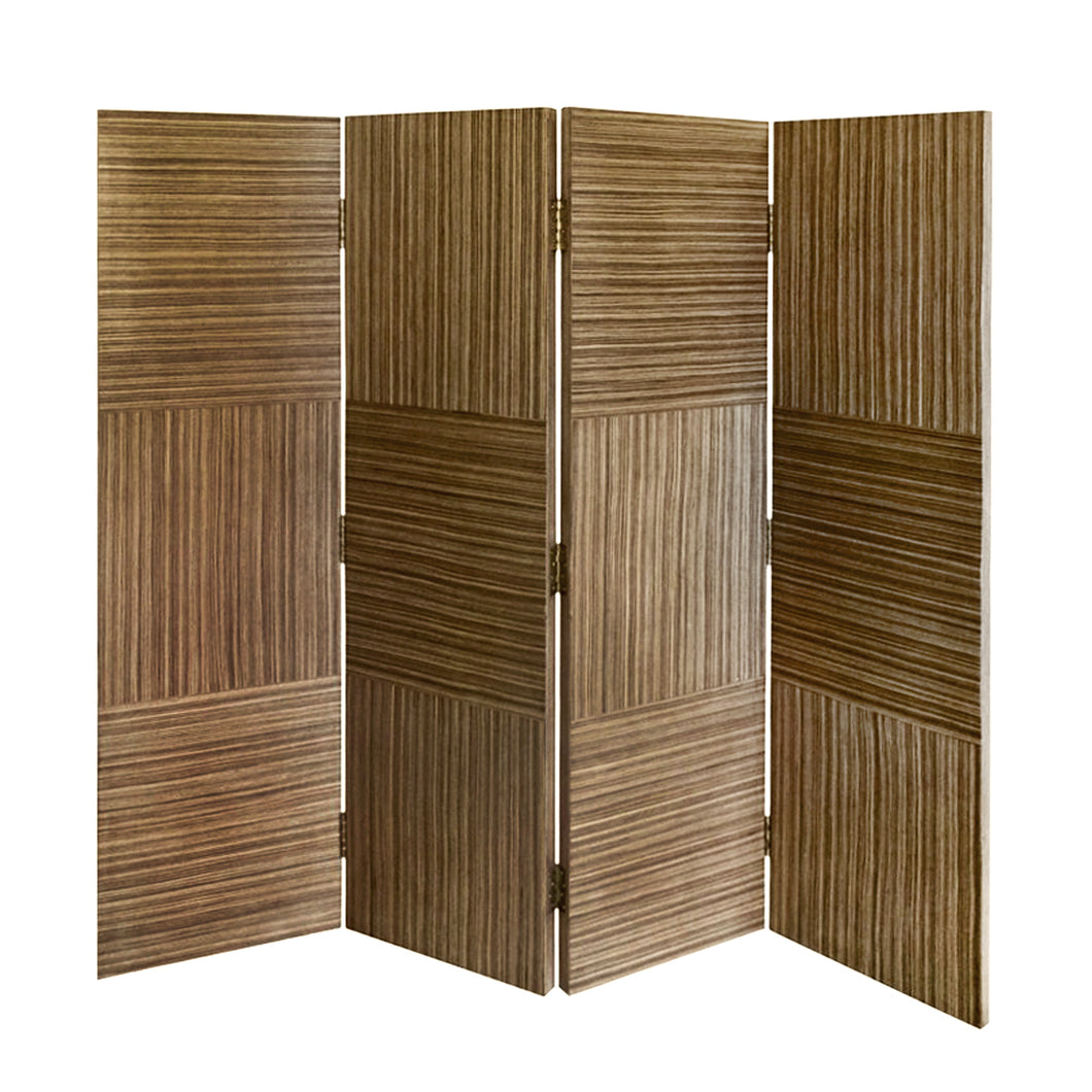 HANDMADE PATCHWORK ZEBRA WOOD SCREEN - Flair Home Collection