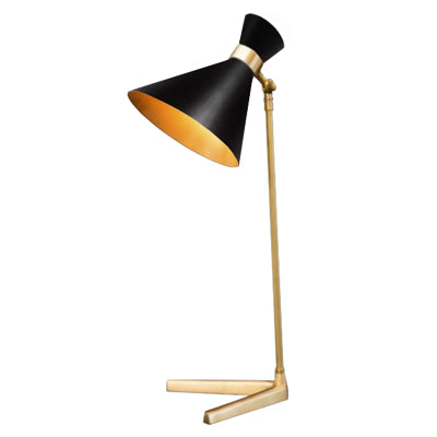 PEGGY TABLE LAMP WITH BLACK SHADE - Flair Home Collection