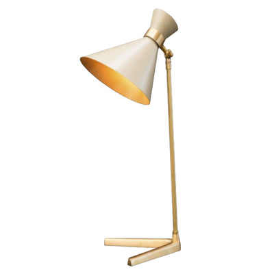 PEGGY TABLE LAMP WITH WHITE SHADE - Flair Home Collection