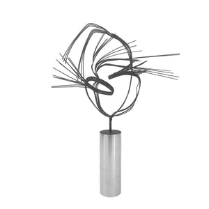 MIDCENTURY METAL WIRE SCULPTURE ON CHROME BASE - Flair Home Collection