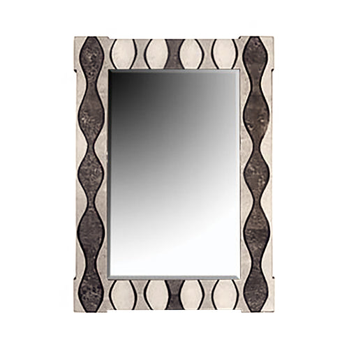 CURVES MIXED STONE WALL MIRROR - Flair Home Collection