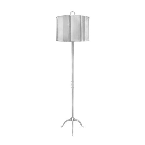 TRESPOLO FLOOR LAMP IN NICKEL - Flair Home Collection
