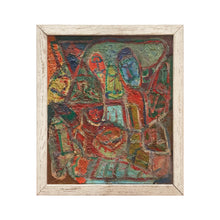 Load image into Gallery viewer, COLORFUL MIDCENTURY FIGURATIVE ABSTRACT PAINTING - Flair Home Collection