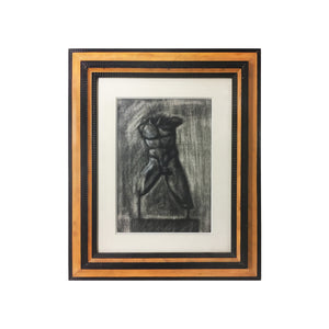 GREEK CHARCOAL DRAWING OF MALE TORSO - Flair Home Collection