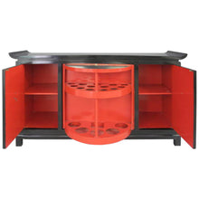 Load image into Gallery viewer, JAMES MONT PAGODA STYLE BLACK LACQUER BAR CABINET - Flair Home Collection
