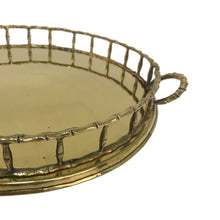 Load image into Gallery viewer, FAUX BAMBOO BRASS TRAY - Flair Home Collection