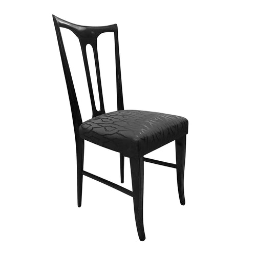 VINTAGE EBONIZED OCCASIONAL CHAIR - Flair Home Collection