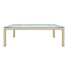 Load image into Gallery viewer, ROMEO REGA RECTANGULAR BRASS AND CHROME COFFEE TABLE - Flair Home Collection