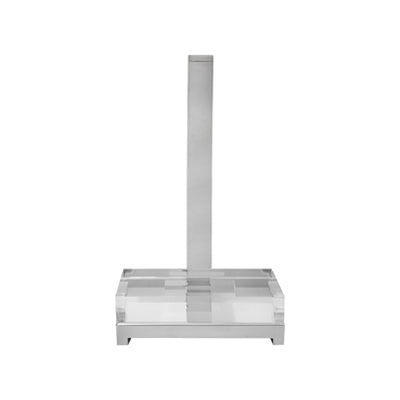 SMALL EASEL IN CLEAR PLEXI AND NICKEL - Flair Home Collection