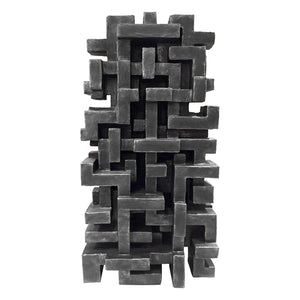"""MUSE"" WALL SCULPTURE IN CHARCOAL FINISH - Flair Home Collection"