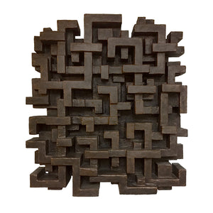 """MUNDUU"" WALL SCULPTURE IN BRONZE FINISH - Flair Home Collection"