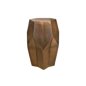 BRONZE FACETED SIDE TABLE/STOOL - Flair Home Collection
