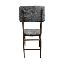 Load image into Gallery viewer, VITTORIO DASSI WOOD FRAME DINING CHAIR IN STEEL BLUE VELVET - Flair Home Collection