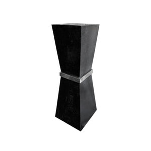 ARIS BLACK STONE PEDESTAL - Flair Home Collection