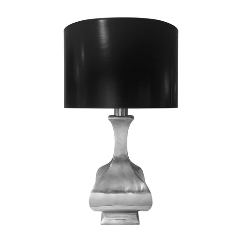 1970'S FRENCH NICKEL BALUSTER TABLE LAMP - Flair Home Collection
