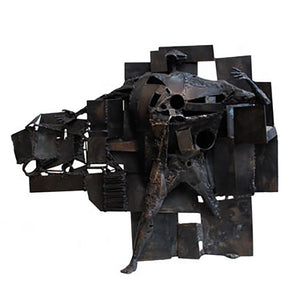 """LE PASSE MARAILLE"" FIGURAL ABSTRACT STEEL SCULPTURE BY ANDRE GAILLARD - Flair Home Collection"