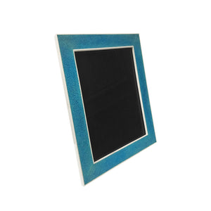 LARGE TURQUOISE SHAGREEN PHOTO FRAME WITH BONE PROFILE - Flair Home Collection
