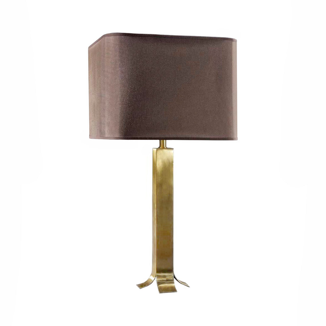 BISLEY BRASS TABLE LAMP - Flair Home Collection