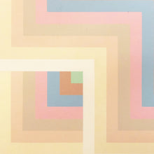Load image into Gallery viewer, GEOMETRIC MIRRORED TWIN SQUARE PRINT IN PASTEL TONES - Flair Home Collection