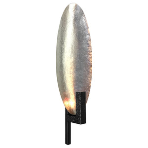 LARGE HAMMERED SILVER OVAL SCONCE - Flair Home Collection