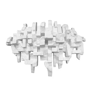 """PROCESSION"" WALL SCULPTURE IN WHITE FINISH - Flair Home Collection"