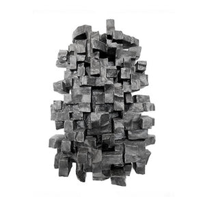 """TRANSMISSION"" WALL SCULPTURE IN CHARCOAL FINISH - Flair Home Collection"