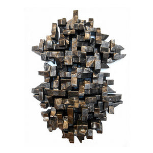 """CEREMONY"" WALL SCULPTURE IN BLACK GOLD FINISH - Flair Home Collection"