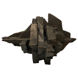 """ORE"" FREESTANDING TABLE SCULPTURE IN BRONZE FINISH - Flair Home Collection"