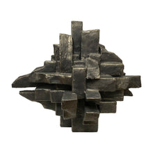 "Load image into Gallery viewer, ""INTERZONE"" TABLE SCULPTURE IN BLACK GOLD FINISH - Flair Home Collection"