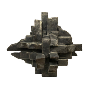 """INTERZONE"" TABLE SCULPTURE IN BLACK GOLD FINISH - Flair Home Collection"