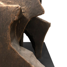 "Load image into Gallery viewer, ""CITIES IN DUST I"" TOTEM SCULPTURE IN BRONZE FINISH - Flair Home Collection"