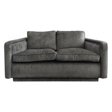 Load image into Gallery viewer, ANGLED ARM LOVE SEAT IN GREY VELVET - Flair Home Collection
