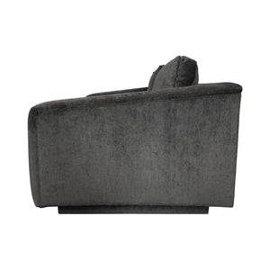 ANGLED ARM LOVE SEAT IN GREY VELVET - Flair Home Collection