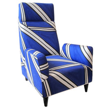 Load image into Gallery viewer, TORINO HIGH BACK CHAIR IN HAND-PAINTED TRIA FABRIC BY LIVIO DE SIMONE - Flair Home Collection
