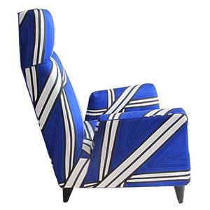 TORINO HIGH BACK CHAIR IN HAND-PAINTED TRIA FABRIC BY LIVIO DE SIMONE - Flair Home Collection
