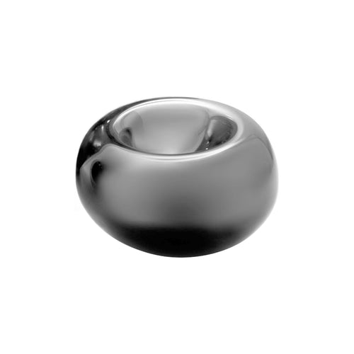 SMALL GLASS ECHO BOWL IN PEWTER - Flair Home Collection