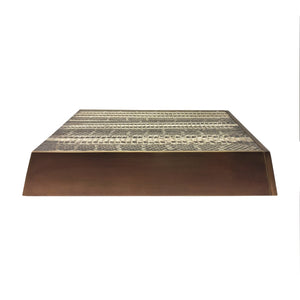 SNAKE SKIN AND BRASS SLIDING BOX - Flair Home Collection